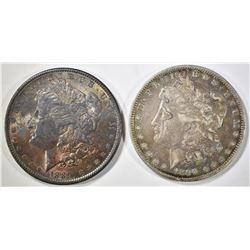 1889 & 1890-O MORGAN DOLLARS  BOTH WITH TONING