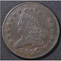 1810 HALF CENT  XF