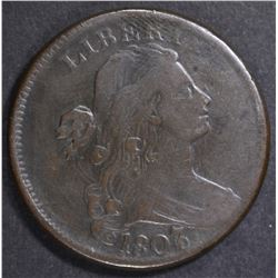 1807/6 LARGE CENT  VF/XF
