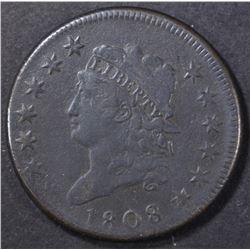 1808 LARGE CENT  FINE
