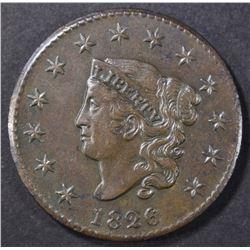 1826 LARGE CENT  CH AU