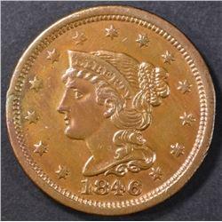 1846 LARGE CENT  CH BU BN