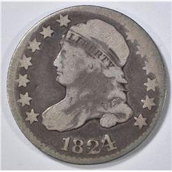 1824/2 BUST DIME VG/F