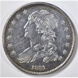 1831 CAPPED BUST QUARTER CH BU PROOF-LIKE RARE!!