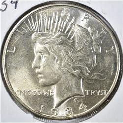1934-D PEACE DOLLAR, CH BU