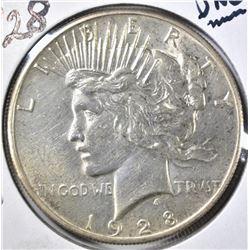 1928 PEACE DOLLAR, UNC  KEY DATE COIN