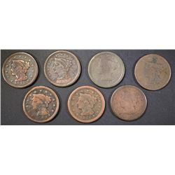 7-LARGE CENTS MOSTLY LOW GRADE SOME PROBLEMS
