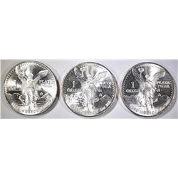 3-1985 MEXICAN ONE OUNCE .999 SILVER LIBERTADS