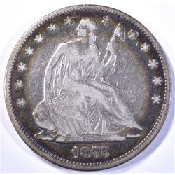 1875 SEATED HALF DOLLAR, FINE