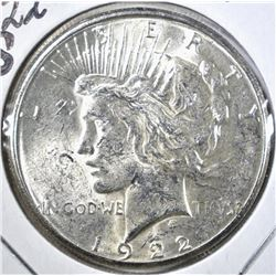 1922-S PEACE DOLLAR, GEM BU