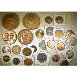 VARIOUS TOKENS & MEDALS: