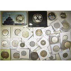 FOREIGN COIN LOT: SOME SILVER