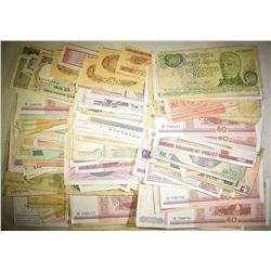 200+ PIECES FOREIGN CURRENCY: