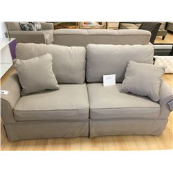 ASHLEY SIGNATURE GREY FABRIC 2 SEAT SOFA & LOVESEAT