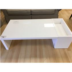 WHITE MODERN STORAGE COCKTAIL TABLE