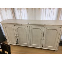 ASHLEY SIGNATURE ANTIQUE WHITE 4 DOOR ACCENT CABINET