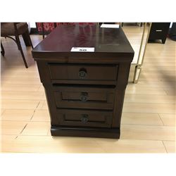ASHLEY SIGNATURE DARK WOOD 3 DRAWER MOBILE PEDESTAL