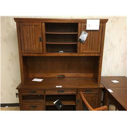 ASHLEY SIGNATURE CHERRY 5 PCS EXECUTIVE OFFICE SET INCLUDING: SINGLE DRAWER DESK, CORNER TABLE, 3