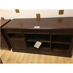 ASHLEY 3 DRAWER DARK WOOD ENTERTAINMENT CONSOLE