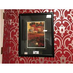 FRAMED HOUSE PRINT ARTWORK