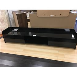 LARGE MODERN GLOSS BLACK 2 DOOR ENTERTAINMENT CONSOLE