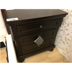 ASHLEY SIGNATURE DARK WOOD 5 DRAWER DRESSER AND 3 DRAWER NIGHT STAND