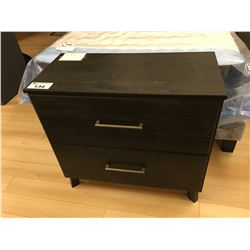 MODERN CHARCOAL 2 DRAWER CHEST