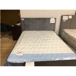BEST QUALITY FURNITURE GREY MICROFIBER STUDDED FULL BED