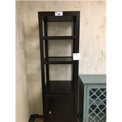 SINGLE DOOR 4 TIER DARK WOOD ACCENT PIER