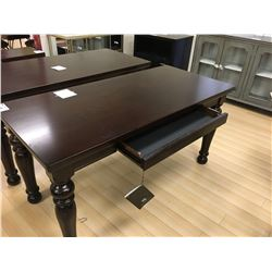 ASHLEY SIGNATURE DARK WOOD SINGLE DRAWER WRITING DESK
