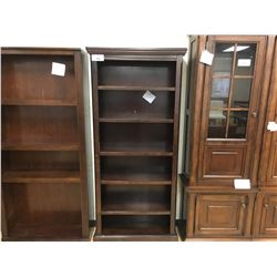 5 TIER DARK WOOD RIDGESIDE BOOKCASE