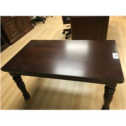 ASHLEY SIGNATURE DARK WOOD TRADITIONAL LEG HIGH COCKTAIL TABLE