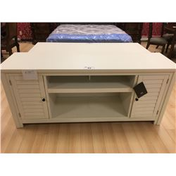 ASHLEY SIGNATURE WHITE 2 DOOR ENTERTAINMENT CONSOLE