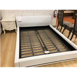 MODERN WHITE FULL LEATHER QUEEN SIZE BED