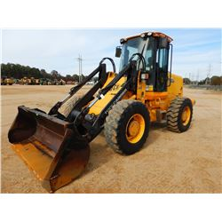 JCB 416 TOOL CARRIER, VIN/SN:1243097 BUCKET, COUPLER, AUX HYDS, CAB, A/C, 17.5-25 TIRES, METER READI