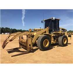 2005 CAT 938G SERIES II WHEEL LOADER, VIN/SN:RTB01315 - WICKER FORKS W/ TOP CLAMP, CAB, A/C, 20.5R25