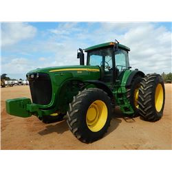 2003 JOHN DEERE 8120 SCRAPER TRACTOR, VIN/SN:014024 - MFWD, (3) REMOTES, QUICK HITCH, FRONT COUNTERW