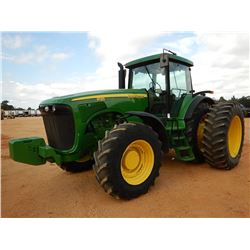 2004 JOHN DEERE 8120 SCRAPER TRACTOR, VIN/SN:023475 - MFWD, (3) REMOTES, QUICK HITCH, FRONT COUNTERW