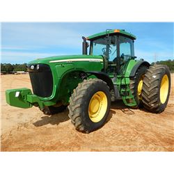 2004 JOHN DEERE 8120 SCRAPER TRACTOR, VIN/SN:021017 - MFWD, (4) REMOTES, QUICK HITCH, FRONT COUNTERW