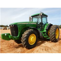 2004 JOHN DEERE 8120 SCRAPER TRACTOR, VIN/SN:024310 - MFWD, (3) REMOTES, QUICK HITCH, FRONT COUNTERW