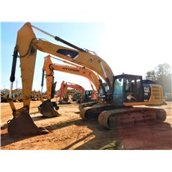2012 CAT 329EL HYDRAULIC EXCAVATOR, VIN/SN:PLW00361 - 10' STICK, 36'' BUCKET, REAR CAMERA, CAB, A/C,