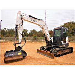 "2012 BOBCAT E80-A HYDRAULIC EXCAVATOR, VIN/SN:AETB12589 - 7' - 4"" STICK, BOBCAT 40MR BRUSH CUTTER, A"