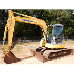"2007 KOMATSU PC78US-6NO HYDRAULIC EXCAVATOR, VIN/SN:9905 - 7' - 3"" STICK, 26"" BUCKET, THUMB, BLADE,"