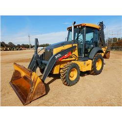 2016 JOHN DEERE 310L LOADER BACKHOE, VIN/SN:293240 - 4X4, E-STICK, BUCKET, THUMB, CAB, A/C, METER RE