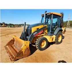 2016 JOHN DEERE 310L LOADER BACKHOE, VIN/SN:293083 - 4X4, E-STICK, MP BUCKET, THUMB, CAB, A/C, METER