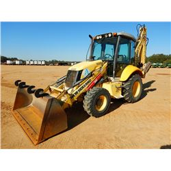 NEW HOLLAND B95B LOADER BACKHOE, VIN/SN:N8GH21730 - 4X4, E-STICK, BUCKET, CAB, A/C, METER READING 3,
