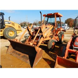 CASE 580K SKIP LOADER, VIN/SN:JJG0009121 - BUCKET, REAR COUNTERWEIGHT, CANOPY, METER READING 2,229 H