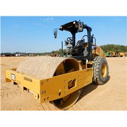 "2016 CAT CS56B ROLLER, VIN/SN:S5600314 - VIBRATORY, 84"" SMOOTH DRUM, CANOPY, METER READING 683 HOURS"