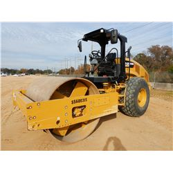 "2016 CAT CS56B ROLLER, VIN/SN:S5600315 - VIBRATORY, 84"" SMOOTH DRUM, CANOPY, METER READING 742 HOURS"