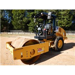 "2017 CAT CS44B ROLLER, VIN/SN:CS300451 - VIBRATORY, 66"" SMOOTH DRUM, CANOPY, METER READING 912 HOURS"